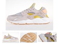 Wholesale Brown yellow womens huaraches sneaker outdoor sports trainer mens hurache running shoes size