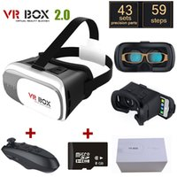 Wholesale Google cardboard VR BOX Version VR Virtual D Glasses wireless bluetooth gamepad GB D Game with package