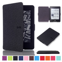 Wholesale Luxury Ultra Slim Leather Case For Amazon Kindle Paperwhite Case Cover With Magnetic Wake Sleep Screen Protector Stylus