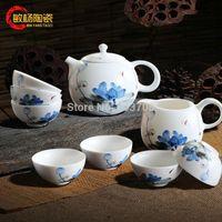Wholesale new blue and white porcelain tea set exquisite ceramics teapot