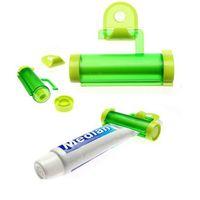 Wholesale random color Plastic Rolling Tube Squeezer Useful Toothpaste Easy Dispenser Bathroom Holder