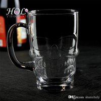Wholesale Glass beer juice mug cup drinking glass with handle