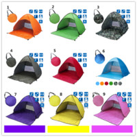 beach style bedroom - Summer Tents Style Outdoors Tents Camping Shelters for People UV Protection Tent for Beach Travel Lawn DHL Fast Shipping