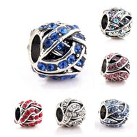 Wholesale 50PCS mmx10mm Sterling Silver Charms DIY Bead Fit European Bracelet Pandora Style Jewelry