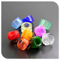 Wholesale Colorful Wide Bore Drip Tip Newest Acrylic Resin Material Wide Bore Drip Tips fit RDA RBA RTA Atomizer
