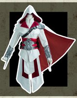 assassins creed brotherhood - Ezio Auditore da Firenze Cosplay Assassins Creed Discovery Brotherhood And Revelations Costume With Silver Armors