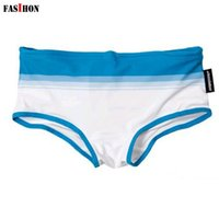 Cheap Wholesale-(FASIHON) 2 Colors Nylon Hot Nice Men Swimming Waterproof Fabric Underwear Sexy Swimming Trunks Shorts Swimwear Men Swimsuit