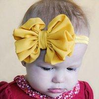 Accessoires de cheveux pour les bébés filles France-1 X Belle Filles Bébé Tout nouveau-né Satin Oversize Papillon bowknot Bandeau Bandeau stretch Bandeau Accessoires