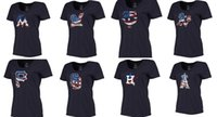 astros t shirts - MLB Baseball Women Navy Plus Sizes Banner Wave T Shirt Astros Angels of Anaheim Marlins Brewers Twins Athletics Pirates Padres