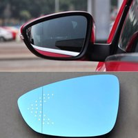 beetle auto parts - Auto parts HD Car Rear View Mirror Hyperbolic Blue Mirror Arrow LED Steering Light For Volkswagen Beetle