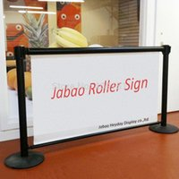 Wholesale Jabao J banner Retractable Roller Sign Banner Belt Barrier Banners by Luxe Impressions