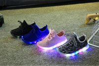 Wholesale Led shoes for kids Children shoes New Autumn Breathable shoes for girls boys Kids Sport Brand Light Boys Shoes