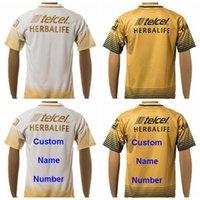 Pumas UNAM camisetas de fútbol calidad de Tailandia de encargo, personalizado amarillo del color blanco del equipo de fútbol Camisa uniforme Kits Pie Camiseta
