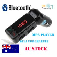 Wholesale Hot Bluetooth Car Kit FM Transmitter Handsfree MP3 Player Dual USB Car Charger AUX for iPhone for Samsung
