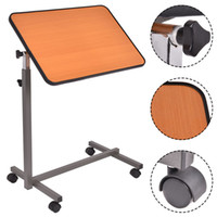Wholesale Over bed Rolling Table Over Bed Laptop Food Tray Hospital Desk With Tilting Top