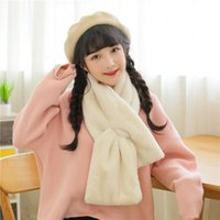 Wholesale 2016 Special Offer New The Korean Version of Autumn And Winter Rex Imitation Plush Faux Fur Collar Scarf Set Female Fashion Warm Thick Head