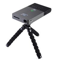 Wholesale Newest C2 Smart Mini Projector full hd Portable G Wifi Project DLNA Android OS G DDR G ROM Built in MA Battery