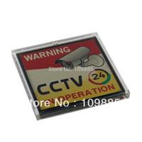 Livraison gratuite! 3.15 x 3.15in Clignotant énergie solaire Avertissement Enregistrement vidéo CCTV Connexion