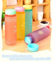 adult water dragon - My Water Bottle ml Summer Frosted Marca Dragon Cartoon Cup Summer Candy Color Portable Plastic Cup Students with Glasses