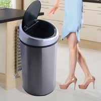 Wholesale Touchless Automatic Infrared Sensor Trash Can Gallon Stainless Steel