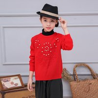 beadings brand new - Children Spring Autumn Clothes New Fashion Candydoll For Kids All match Flower Beadings Long Sleeve Girls Sweaters