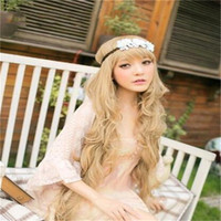 beautiful gifts wigs - Hot Cosplay Wigs cm Curly Hair Synthetic Cosplay Party Wigs Beautiful Wave Wigs Style for Children s Day Gift