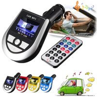 best auto dvd player - car dvd Colors High Quality Best Price Wireless LCD Auto Car Kit MP3 Player FM Transmitter AUX Charger USB TF For SD Remote