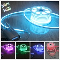 RGB Public Places 1 year 33' (10M) 110V RGB LED Neon Flex 5050 SMD 11*18mm Neon Full Color Changing IP67 Outdoor Lighting Decoration + Remote Controller