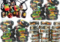 al por mayor pulsera anillo de joyas al por mayor-Nueva marca de Bob Marley Rasta Jamaica Reggae mezcla de joyería de los hombres Anillos Collares Pulseras lotes al por mayor de trabajo