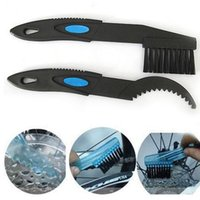 Wholesale 2Pcs Set Bicycle Chain Cleaner Cycling Cleaning Brushes Bike Quick Washing Tool Kits Clean Brush Bike Tools Maintenance