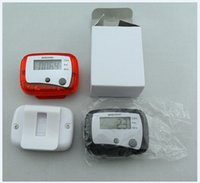Wholesale ON SALE LCD Pedometer Step Calorie Counter Walking Distance Sport Pedometer can customize logo as gift
