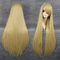 beige blonde hair - Fashion New Womens Long Straight Full Hair Cosplay Wig Lolita Party Wigs Beige