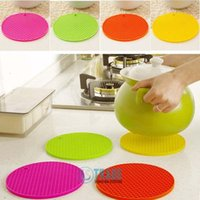 Wholesale Heat Resistant Table Trivet Cup Coaster Mat Pad Cushion Placemat Silicone Colors A044