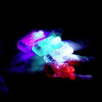 Wholesale Hot Party LED Finger Light Laser Finger Beams Ring Torch For Wedding Celebration Mix Color Decoration Lighting hot sales