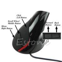 Wholesale Ergonomic Design USB Vertical Optical Mouse Wrist Healing For Computer PC Laptop usb bluetooth mouse