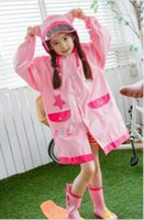 Wholesale Kids children Raincoat Rainwear Rainsuit Waterproof kid Animal Raincoat poncho Funny Rain Coat