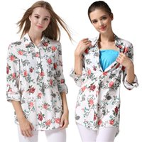 Wholesale Cotton Fashion Maternity Clothes Maternity Shirt pregnancy clothes Breastfeeding shirts Nursing tops Maternity Tops for Pregnant Women