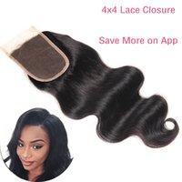 Wholesale Brazilian Human Hair Body Wave Lace Frontal Closure Unprocessed Brazilian Virgin Hair Bundles Brazilian Hair Weave