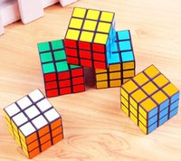 plastic cube - rubik Hot Sale New Mic Rubik Cube X3x3 cm Puzzle Magic Cube Game adult children educational toys Epacket