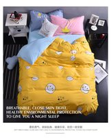 Wholesale Cotton Comforter Sets Queen Sale - Cheap Sale Emoji Printing Bedding Sets For Kids 100% Cotton Queen King Size Bedclothes Duvet Cover Sheet For Kids Children Bed Spreads