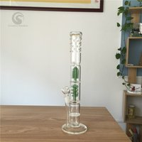 armed systems - In stock glass bongs cm height Straight Type freezable coil system ash catcher Percolator Arm Tree branches oil rig glass bong