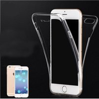 Wholesale iphone7 Degree Full Body Front Back TPU case Touch Screen Case Transparent Clear Skin Cover for iPhone S s Samsung Galaxy s6 s7 note7