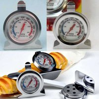 Wholesale Household OvenTemperatures Stand Up Dial Oven Thermometer Gauge Gage Hot Worldwide oven tool Stainless double dial with package