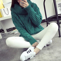 Wholesale Candy Color Knitting Women Casual Turtle Neck Sweaters Loose Wraps Cardigans Fall Winter New Knitwear Tops FS0717