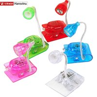 Yes Dry Battery Others Wholesale-2016 Hot Selling Mini LED Clip on Adjustable Book Night Bright Reading Light Lamp for book