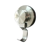 Wholesale 304 Polished Slab Processing Stainless Steel Bathroom Hardware Towel Hook Robe Hook Clothes Hook with EB Super Suction Cup Free Shipment
