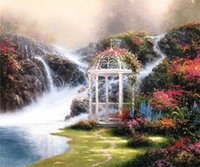 arbor free - High tech Thomas Kinkade HD Print Oil Painting Art On Canvas hidden arbor x24inch Unframed