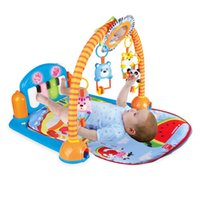 Wholesale Hot sale baby game blanket piano fitness frame with cartoon toys from china factory
