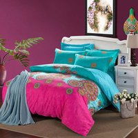 bedspreads for sale - Flash Sale Bedding Set Cotton Queen Sheet Set Bohemian Style Bedspreads Gift for Family Luxury Duvet Cover Bedlinen