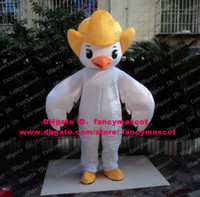 big chicken wings - Likable White Fledging Birdie Bird Chick Chicken Chickling Chook Mascot Costume Cartoon Character Mascotte Big Wings No FS